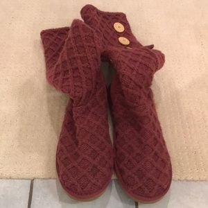 UGG knit high boots size 10